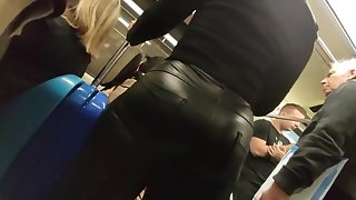 big hot ass in leather pants candid