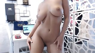 super hot body girl toying her hot pussy