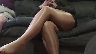 spandex angel - teasing hubby's friend 3
