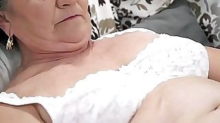 Old hairy honeypot filled with young cock